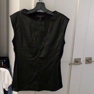 BCBG top - faux leather
